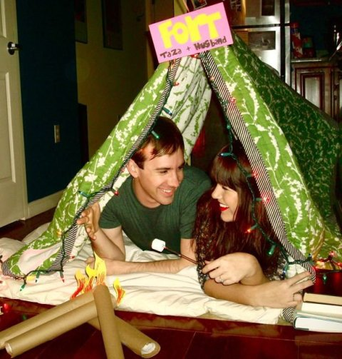 taza and husband's tent